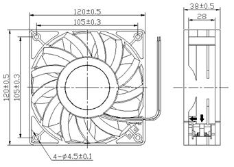 DC FAN 12038, DC12038 Cooling Fan — FANTECH