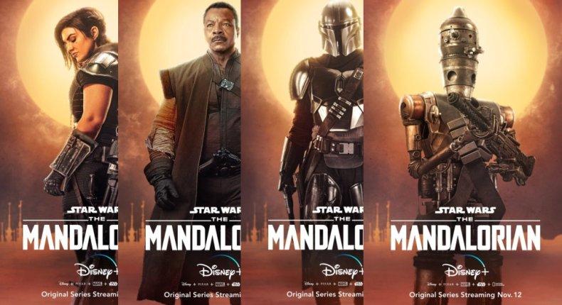 The Mandalorian character posters arrive - Fantha Tracks