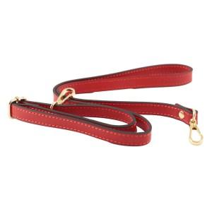 Tracolla in pelle rossa di borsa piccola elegante