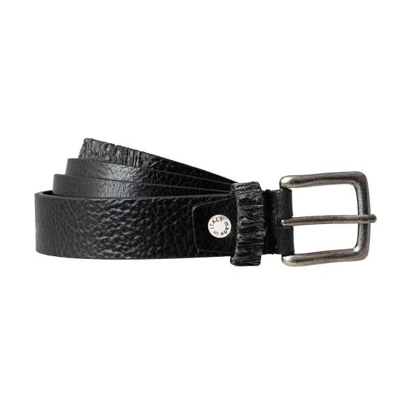 Cintura in pelle nera Fantini con fibbia piccola