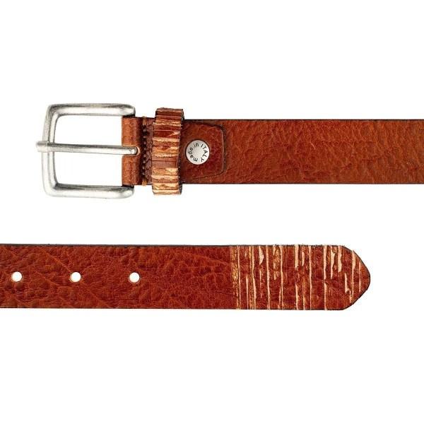 Cintura in pelle marrone chiaro Fantini Made in Italy