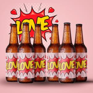 Kærlighed på flaske - Økologisk specialøl med personlig hilsen