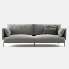 Moods 3 Seater Leather Sofa Bed Curved Cad Block Structure Fanuli Furniture