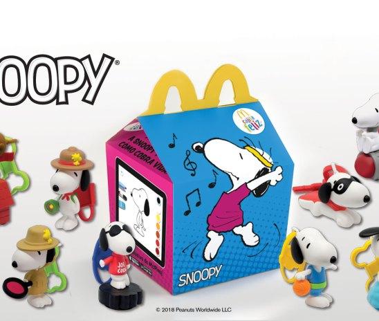 Snoopy regresa a la cajita feliz este verano.