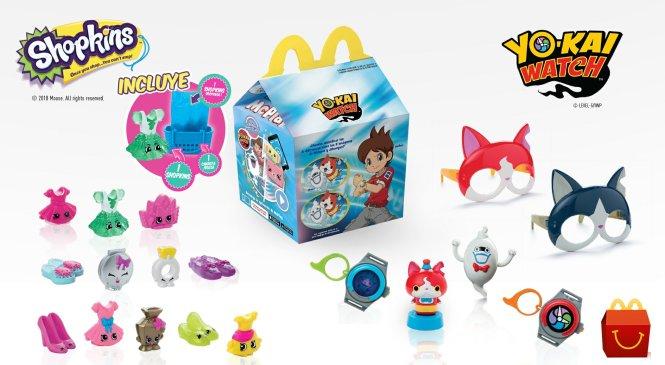 Yo-Kai Watch y Shopkins llegan a la cajita feliz