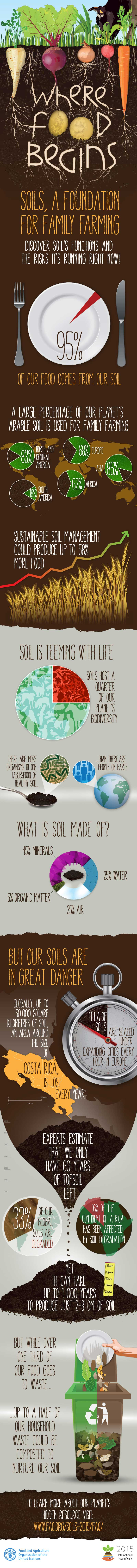 Where food begins [Infographic] | ecogreenlove
