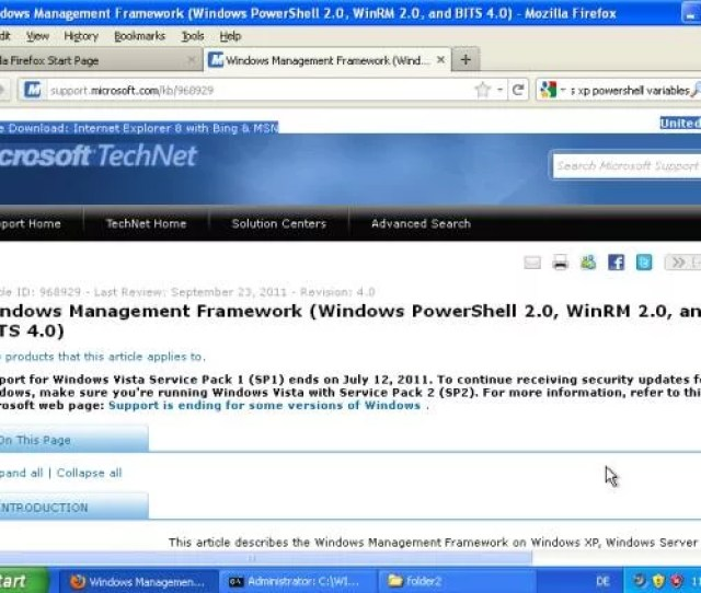 To Install Windows Powershell 2 0 On An Xp Machine You Must Have Windows Xp Service Pack 3 Installed Powershell Is Included In The Windows Management