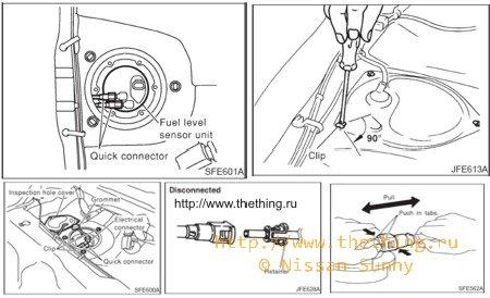 Замена топливного фильтра · Двигатель Nissan · FAQ Nissan