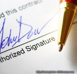 signing a contract - photo/picture definition - signing a contract word and phrase image