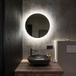 Led Backlit Round Bathroom Mirror Farah Gallery