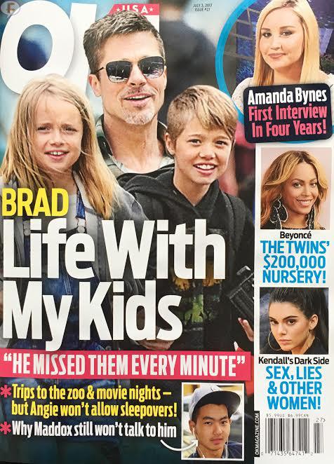 Brad y la vida con sus hijos (OK!)