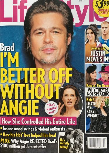 Brad Pitt: estoy mejor sin Angelina – LOL! (Life&Style)