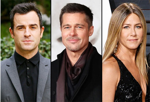 Justin Theroux encontró notas de Brad Pitt para Jennifer Aniston! LOL! Us