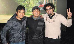 Pepe Alva , Max Castro y William Luna