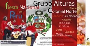 Grupo Alturas, El Grupo Embajador de la Música Peruana, Día de la Fiesta Nacional, Sala Colonial Norte de Madrid