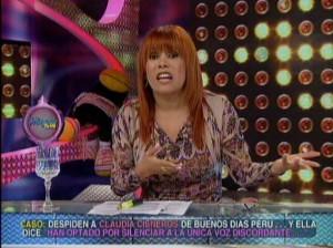 Magaly Medina , Claudia Cisneros , Jaime Chincha , Magaly TeVe