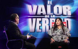 Televisión, El valor de la verdad, Lucy Cabrera, Max Álvarez., Televisión