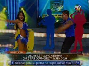 Karen Dejo , Combate , Christian Domínguez , Videos de Espectáculos , Marc Anthony