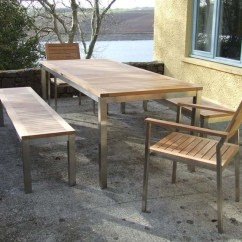 Teak Table And Chairs Garden Narrow Wheelchair Bench Set The Lombok Stainless Steel Customer Photo