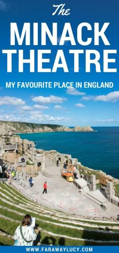 My favourite place in England, UK, is Cornwall's Minack Theatre,a unique open-air theatre perched on the cliffs above the sea. Click through to read more...