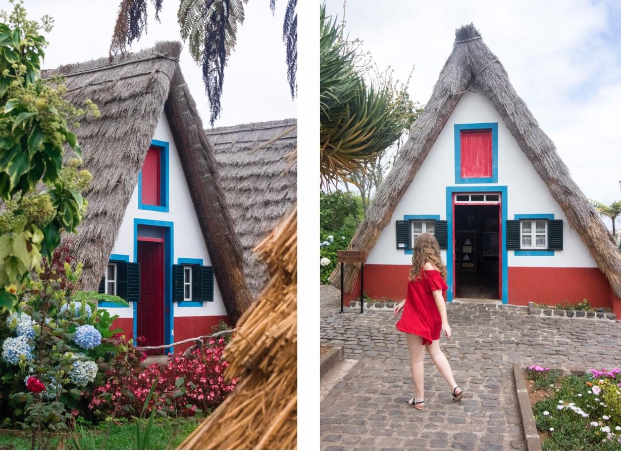 соломенные треугольные дома в сантане