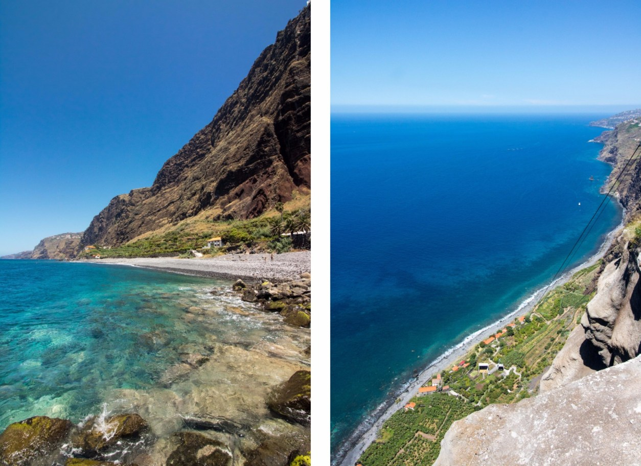 turqouise-ocean-against-mountain-cliffs-fajã-dos-padres-madeira-itinerary-7-days