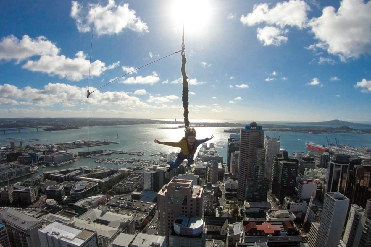 Skyjump Auckland Sky Tower. 10 Awesome Things To Do In North Island New Zealand. Places to visit in North Island New Zealand. What to See in North Island New Zealand. Travel Blog. Tours. Itinerary. Skyjump Auckland. Sky Tower. Waiheke Island. Hobbiton. Skydiving over Lake Taupo. Geothermal activity. OGO zorbing Rotorua. Maori cultural experience. Jet boat Huka Falls. Tongariro Alpine Crossing. Glowworms Waitomo Caves. Wellington. Click through to read more...