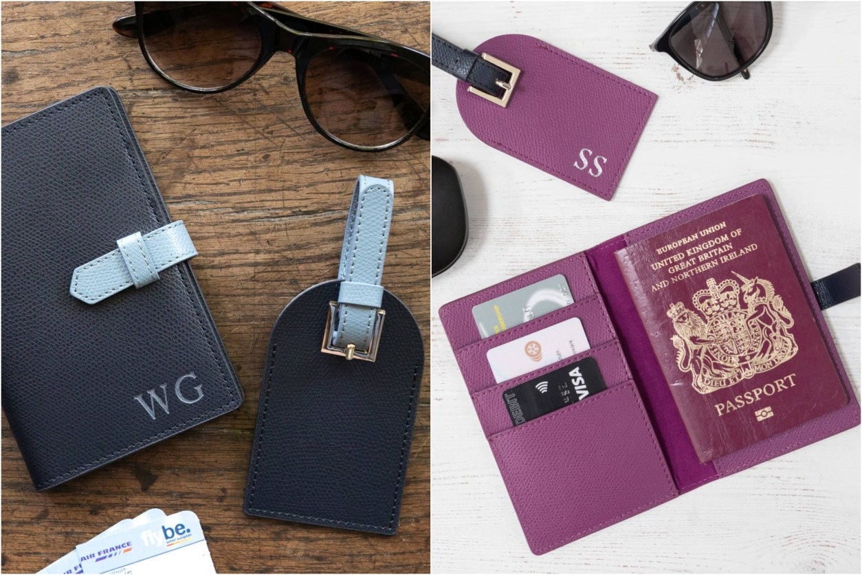 Matching customised luggage tags and passport covers from notonthehighstreet.com. 15 Romantic Travel Gift Ideas for Valentine's Day