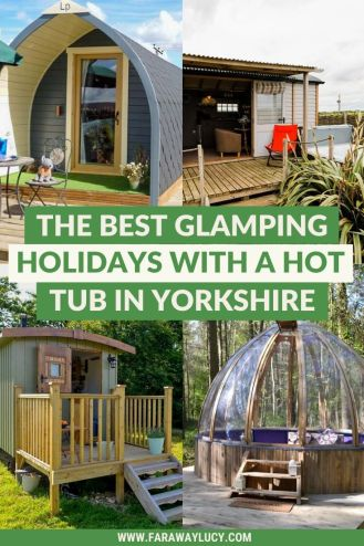 The Best Glamping Holidays with a Hot Tub in Yorkshire. These gorgeous glamping sites in Yorkshire all come complete with a hot tub! This list includes some of my favourite glamping UK holidays so if you want to go glamping in the UK, click through to read more...