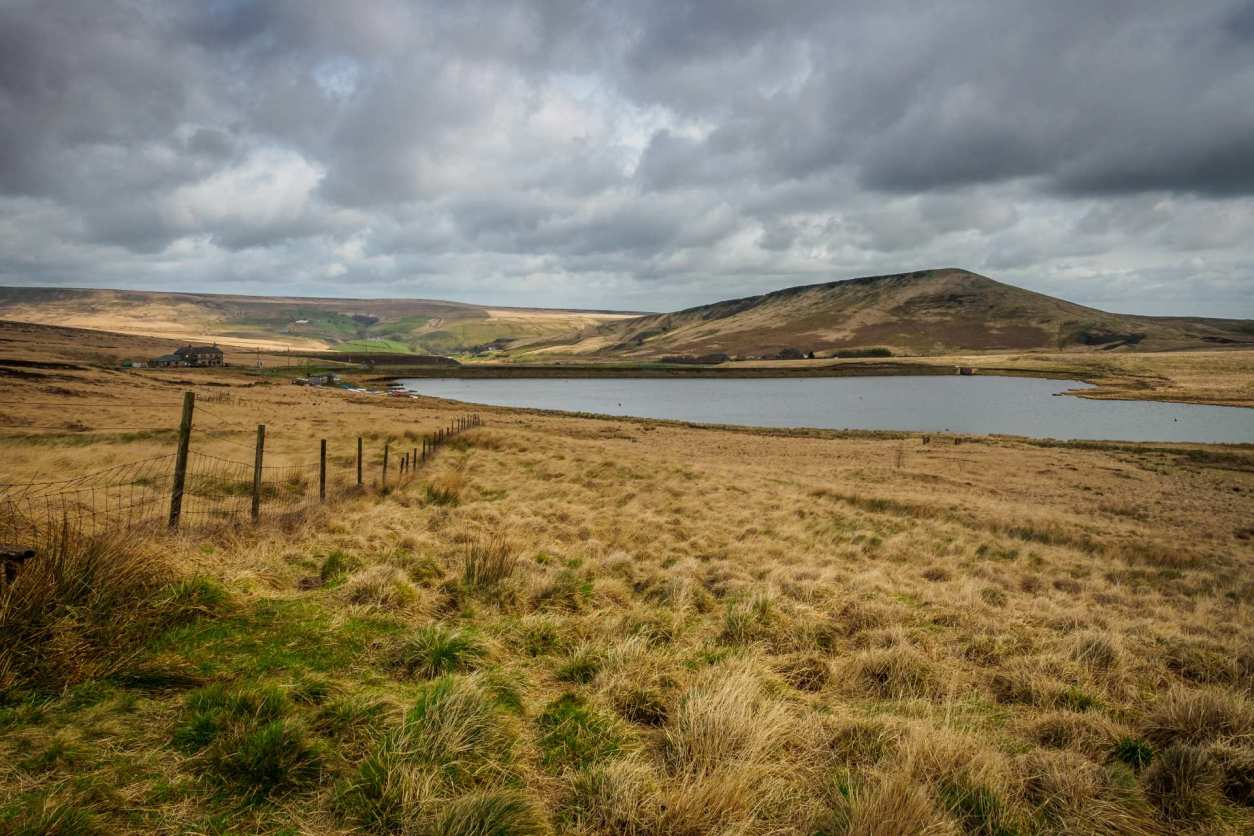 moors-leading-towards-lake-and-hill-on-the-pennine-way-near marsden-best-walks-in-yorkshire