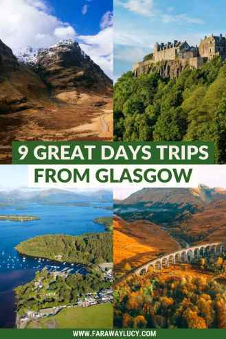 9 Great Day Trips from Glasgow You Need to Go On. There are so many great things to do in Glasgow but why not escape the city to visit some of Scotland's best scenery and attractions? Click through to read more...