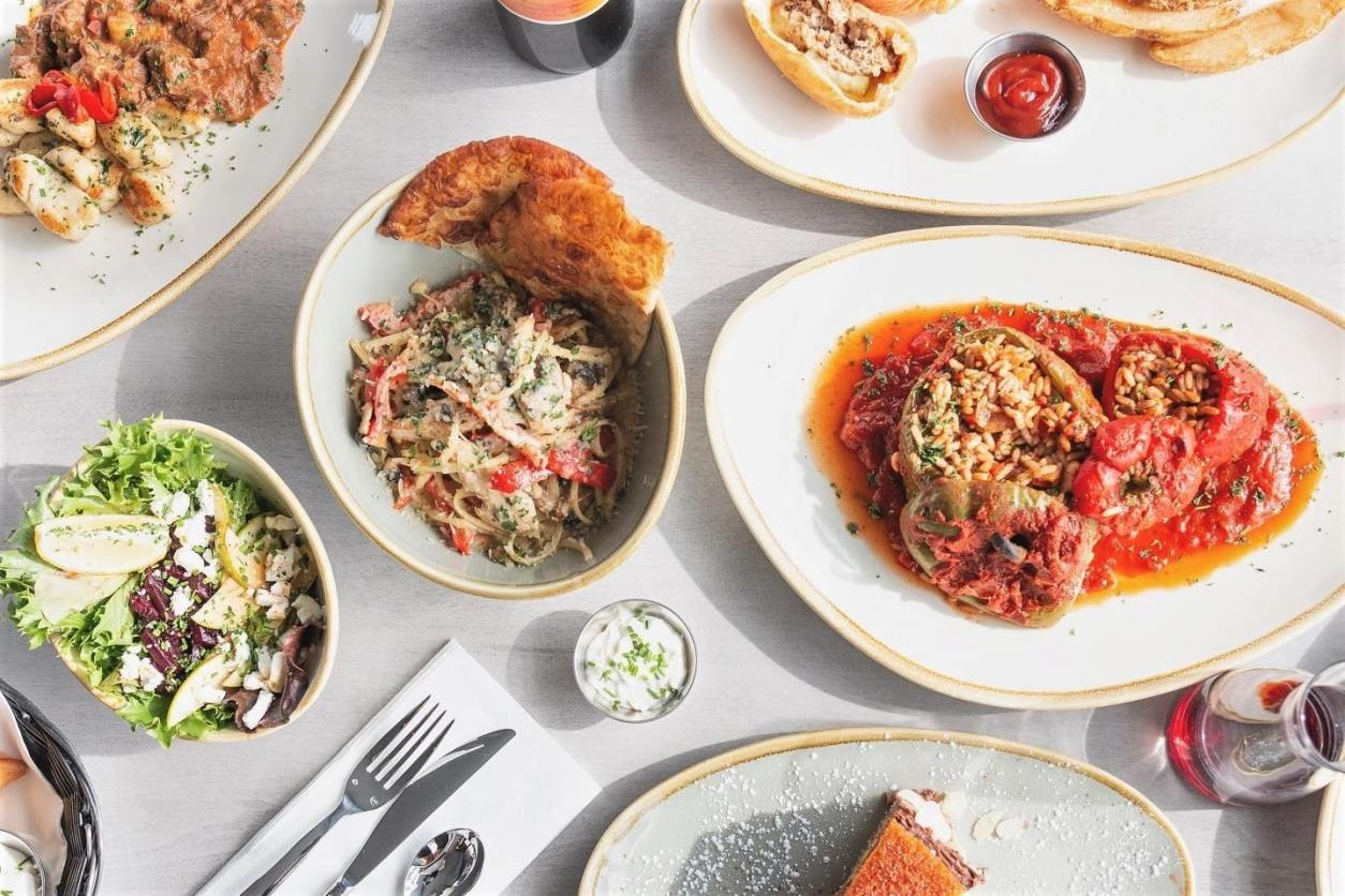 plates-of-hungarian-cuisine-on-restaurant-table-budapest-bisztro