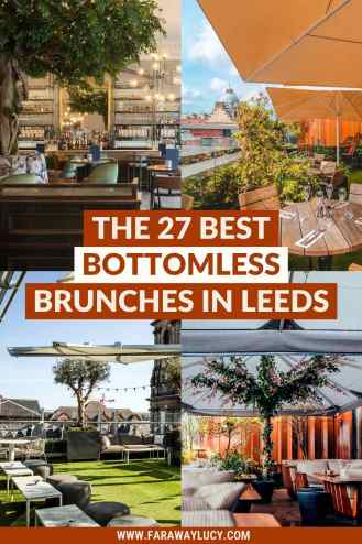 Bottomless Brunch Leeds: 27 Best Brunches You Need to Try. From Instagrammable brunch on rooftops to brunch with live DJs, you absolutely need to try these bottomless brunches in Leeds. Click through to read more...