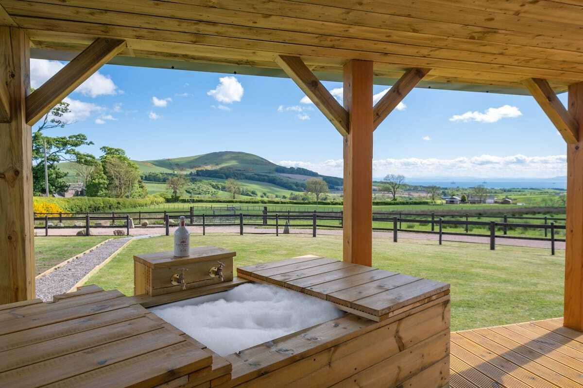 countryside-views-from-hot-tub-at-heartland-cottage-lodges-with-hot-tubs-scotland
