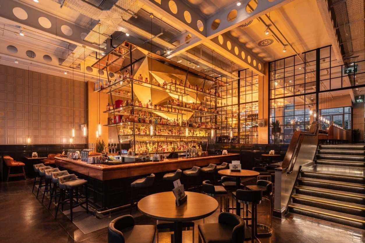 seating-surrounding-bar-area-in-the-alchemist-bottomless-brunch-birmingham