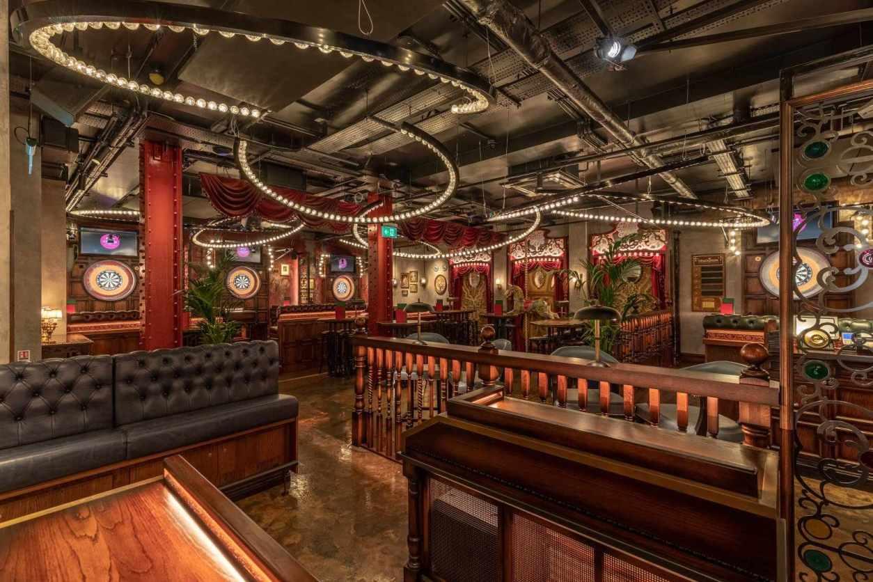 vibrant-restaurant-with-dart-boards-flight-club