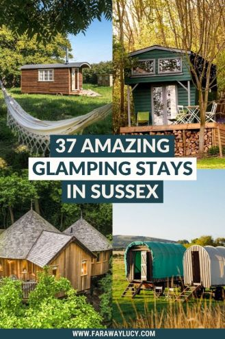 Glamping Sussex: 37 Amazing Places You Need to Stay At. From treehouses and shepherds huts to cabins and safari tents, you'll love these Sussex glamping holidays. Click through to read more...