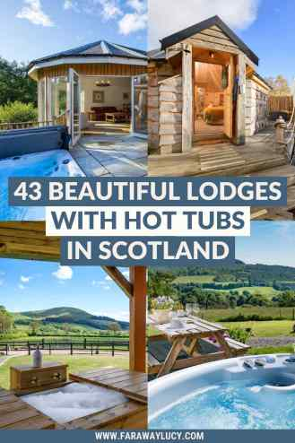 The 45 Most Beautiful Lodges with Hot Tubs in Scotland. From wood-fired hot tubs overlooking lakes to tubs with mountain views, you'll love these 45 most beautiful lodges with hot tubs in Scotland! Click through to read more...