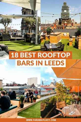 The 18 Best Rooftop Bars in Leeds with Amazing Views [2021]. From beers on a boat to fancy drinks on a sophisticated terrace, you'll love these rooftop bars in Leeds. Click through to read more...