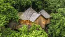 aerial-view-of-the-buzzardry-treehouse-amid-trees-glamping-sussex