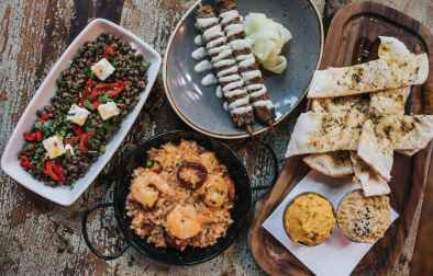 bowls-of-spanish-tapas-at-baresca-restaurant-vegan-restaurants-nottingham