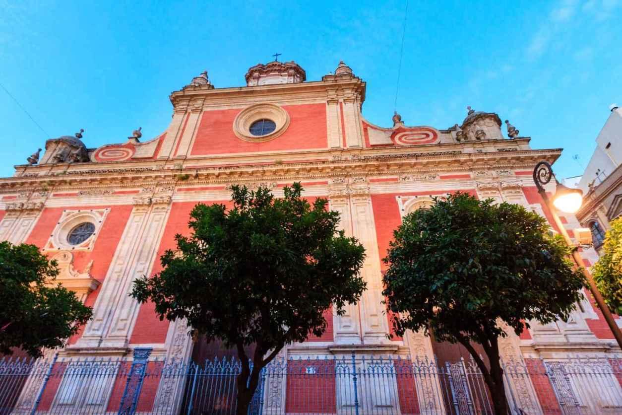 exterior-of-coral-iglesia-del-divino-salvador-church-4-days-in-seville-itinerary
