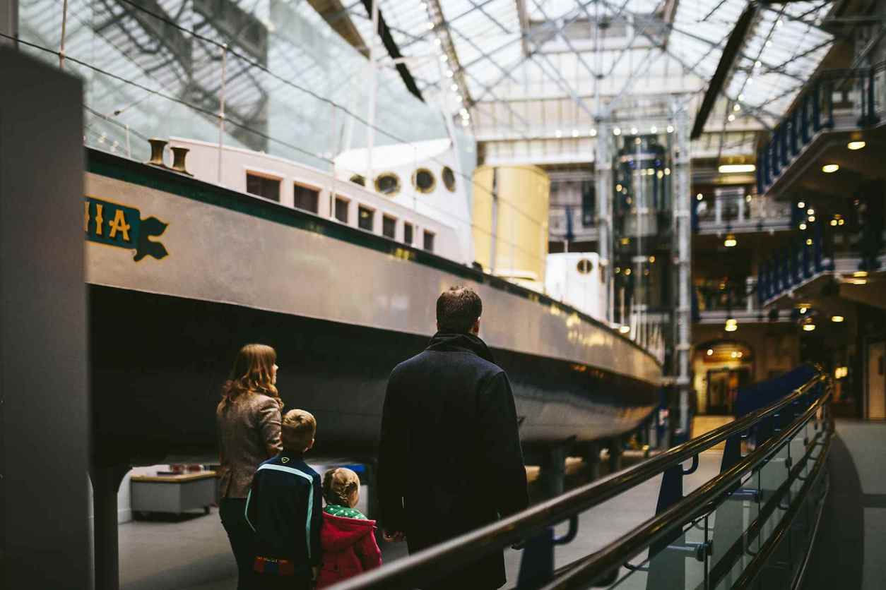 family-walking-by-boat-in-discovery-museum-indoor-activities-newcastle
