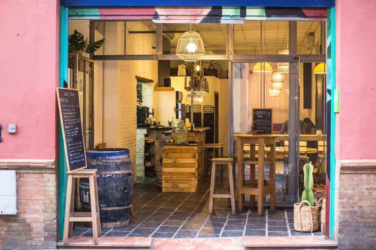 pink-exterior-of-almazen-café-with-open-door
