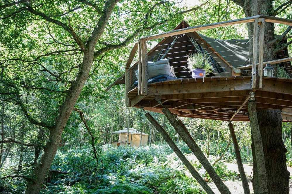 undercover-treehouse-on-decking-in-woodland