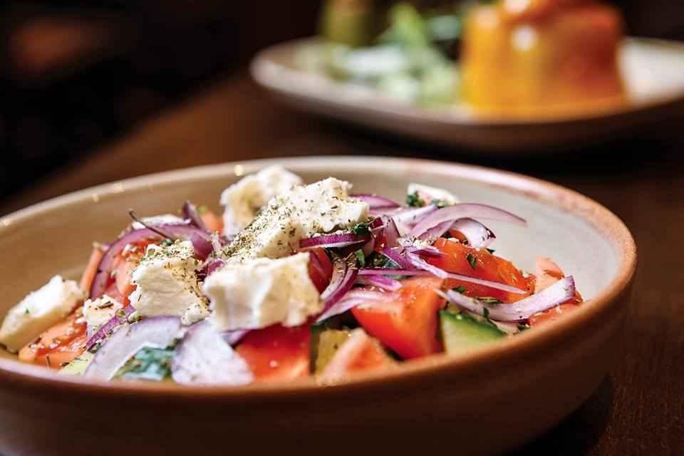 yamas-greek-tapas-in-bowl-on-restaurant-table