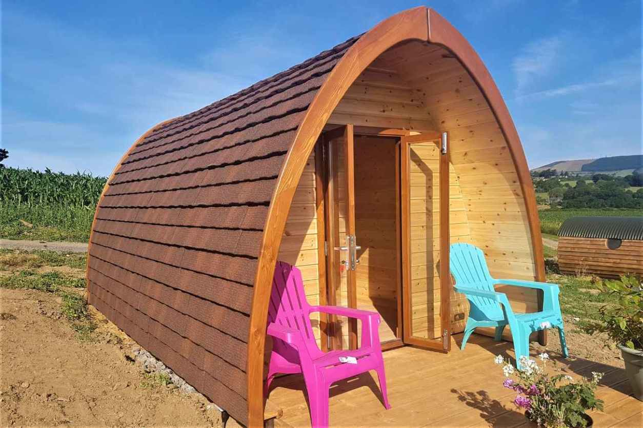 brandon-hill-pod-with-decking-and-hills-in-background-glamping-kilkenny