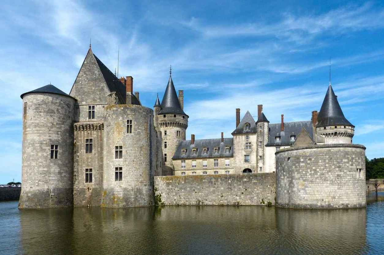 château-de-sully-sur-loire-on-water-on-sunny-day