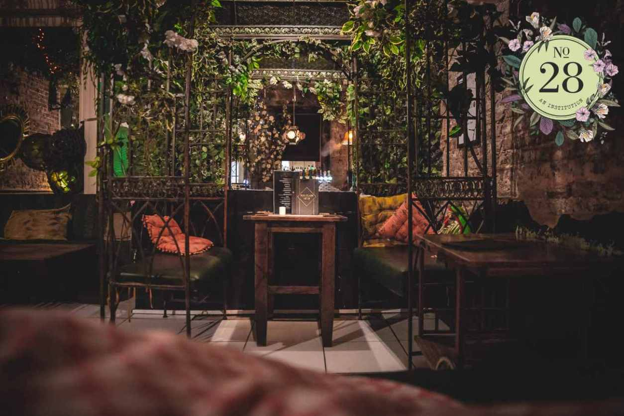 restaurant-seating-at-night-at-no-28-bottomless-brunch-newcastle