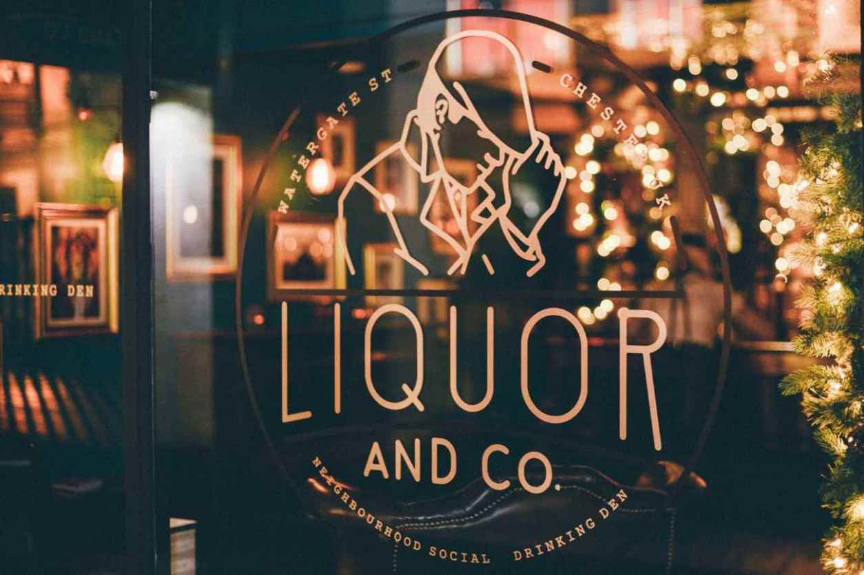 sign-on-glass-door-of-liquor-and-co-bar